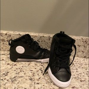 Converse Hi-top leather sneakers